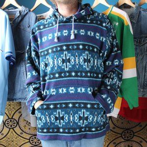 Vintage Snowflake Technicolour Fleece Sweatshirt